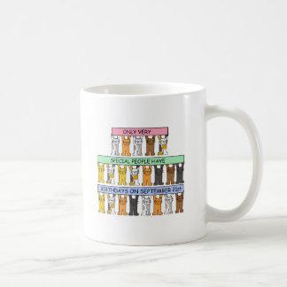 特別な人々のための9月21日の誕生日 コーヒーマグカップ
