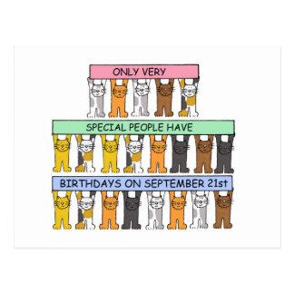 特別な人々のための9月21日の誕生日 ポストカード