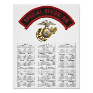 特別な偵察の大隊USMC ポスター
