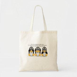 特別な必要性のペンギンのセラピーのバッグ トートバッグ