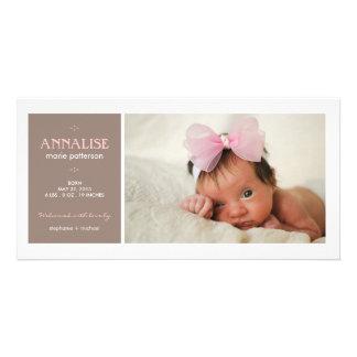 特別な時の写真の女の赤ちゃんの誕生の発表 フォトグリーティングカード