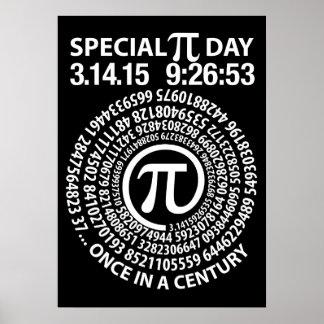 特別なPi日2015年の螺線形 ポスター