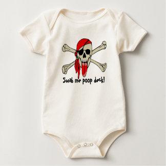 特別に長い舌を搭載するローレントDrapeau海賊 ベビーボディスーツ