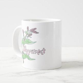 特大ペパーミントの茶マグ ジャンボコーヒーマグカップ