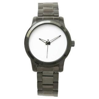 特大ユニセックスで黒いブレスレットの腕時計 ウオッチ