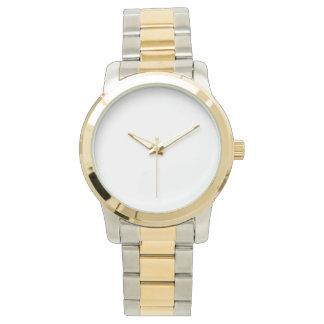 特大ユニセックスなツートーンブレスレットの腕時計 ウオッチ