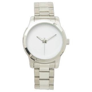 特大ユニセックスな銀製の腕時計 リストウオッチ