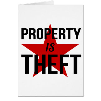 特性は盗難-無政府主義者の社会主義共産主義者です カード
