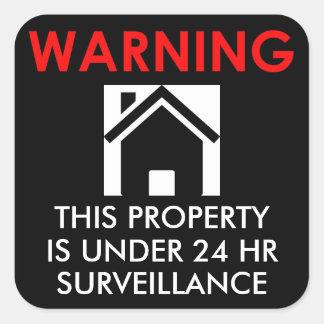 特性は24のHRの監視のステッカー以下あります スクエアシール
