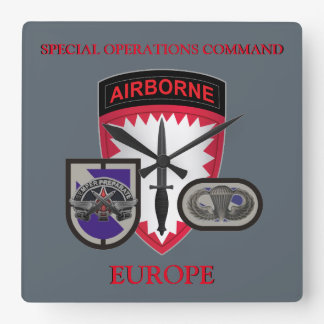 特殊作戦部隊ヨーロッパの時計 スクエア壁時計