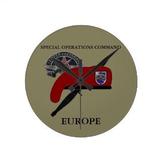 特殊作戦部隊ヨーロッパの時計 ラウンド壁時計