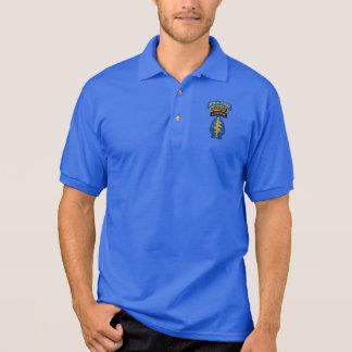 特殊部隊の緑色のベレー帽のレーンジャーLRRPSパッチ ポロシャツ