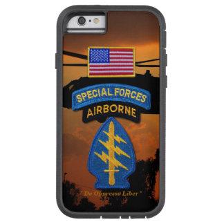 特殊部隊の緑色のベレー帽SF SFG SOFの獣医 TOUGH XTREME iPhone 6 ケース