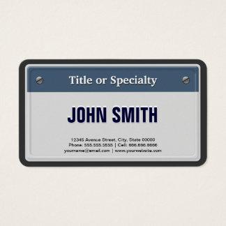 特色にされ、クールな運転免許証のプレート 名刺