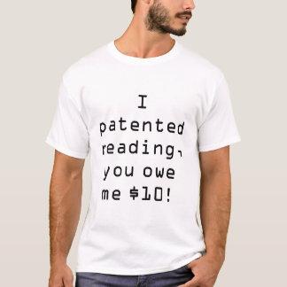 特許を取られた読書 Tシャツ