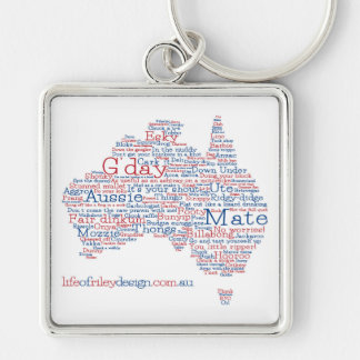 特集号のオーストラリアの俗語のキーホルダー キーホルダー