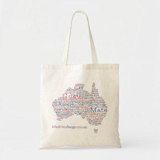 特集号のオーストラリアの俗語のバッグ トートバッグ