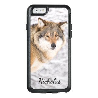 犠牲を捜す冬の森林のカスタムなオオカミ オッターボックスiPhone 6/6Sケース