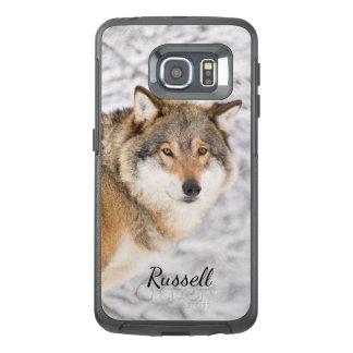 犠牲を捜す冬の森林のカスタムなオオカミ オッターボックスSamsung GALAXY S6 EDGEケース