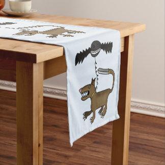 犬およびこうもりモンスター ショートテーブルランナー