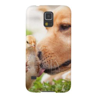 犬およびひよこ GALAXY S5 ケース