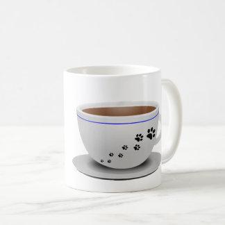 犬およびコーヒー・マグ コーヒーマグカップ