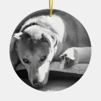 犬およびモルモットのオーナメント セラミックオーナメント