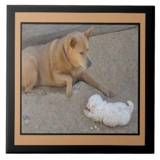 犬および友情のタイル タイル