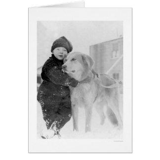 犬および子供Nomeアラスカ1926年 カード