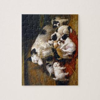犬および彼女の子犬 ジグソーパズル