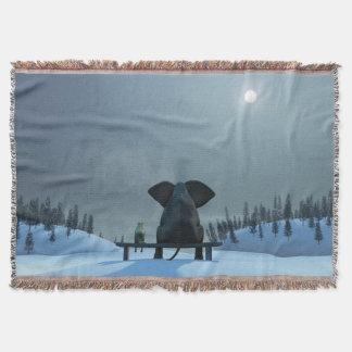 犬および象の友人のブランケット スローブランケット