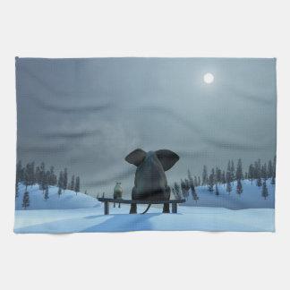 犬および象の友人の台所タオル キッチンタオル