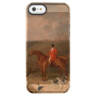 犬および馬の有名な油絵と捜すこと クリア iPhone SE/5/5sケース