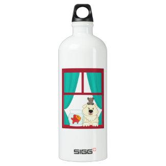 犬および魚 ウォーターボトル