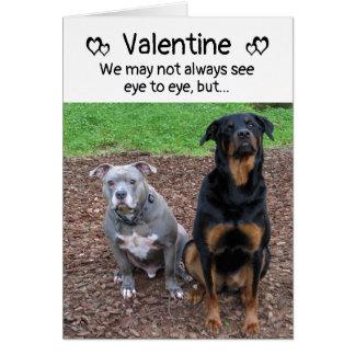 犬およびWoofsのバレンタインデーカードは吠えます カード