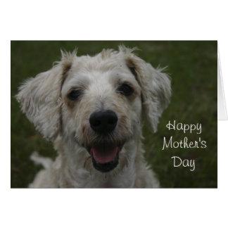 犬からの幸せな母の日 カード