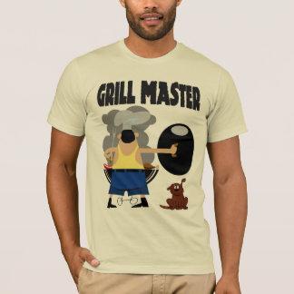 犬が付いているグリルのマスター Tシャツ