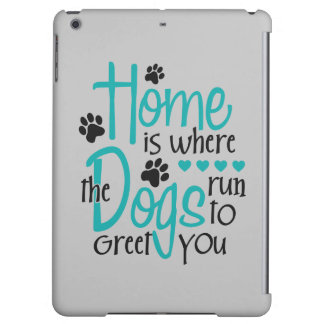 犬が付いている家
