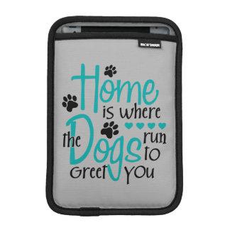 犬が付いている家 iPad MINIスリーブ