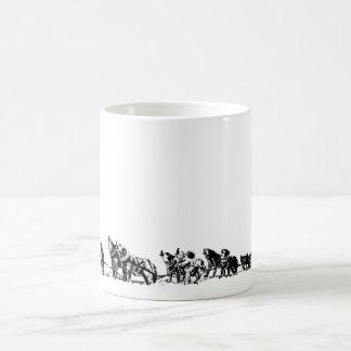 """""""犬そり""""のマグ コーヒーマグカップ"""