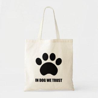 犬で私達はトートバックを信頼します トートバッグ