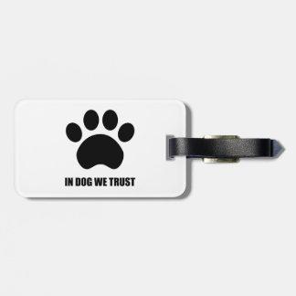 犬で私達は荷物のラベルを信頼します ラゲッジタグ