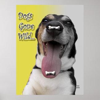 犬によって熱狂させるポスター ポスター