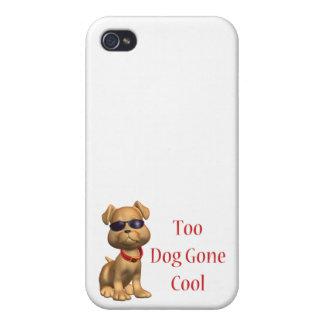 犬によって行くクールに小犬 iPhone 4 カバー
