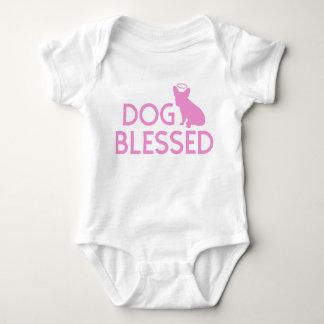 """""""犬によって賛美される""""フレンチ・ブルドッグの天使の乳児のクローラー ベビーボディスーツ"""