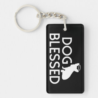 """""""犬によって賛美される""""フレンチ・ブルドッグの天使Keychain キーホルダー"""