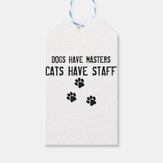 犬にマスター猫がスタッフがあるのをあります ギフトタグ