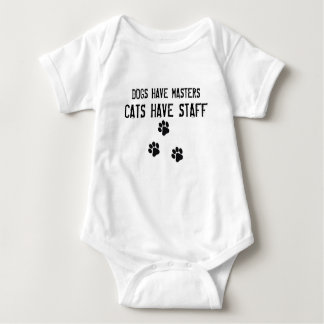 犬にマスター猫がスタッフがあるのをあります ベビーボディスーツ
