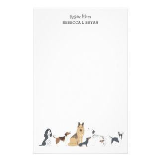 犬のお母さんの救助のお母さんのパパ犬の品種 便箋