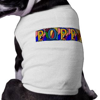 犬のためのケシの~名前入りなBIGLETTERS~PET-WARE! ペット服